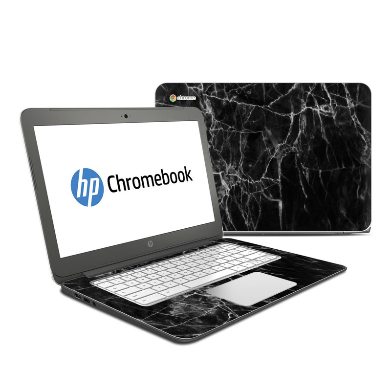 Black Marble HP Chromebook 14 Skin