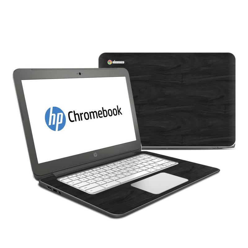 Black Woodgrain HP Chromebook 14 Skin