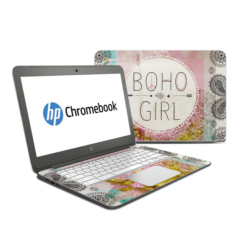 Boho Girl HP Chromebook 14 Skin
