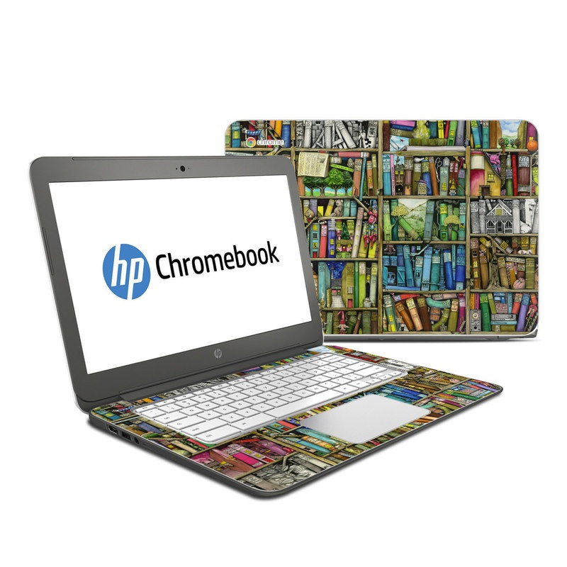 Bookshelf HP Chromebook 14 Skin