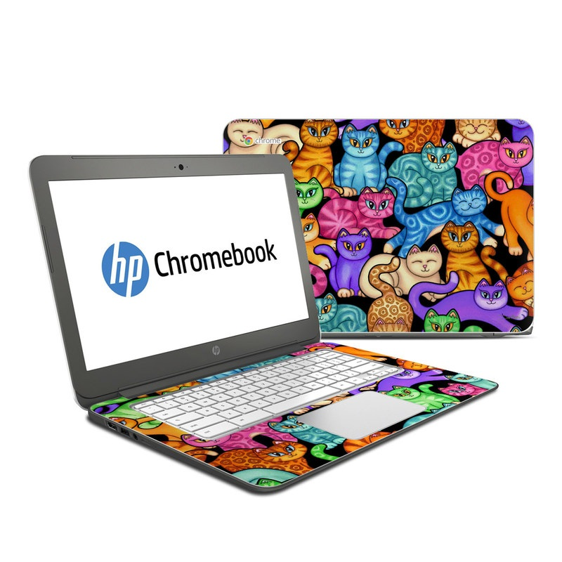 Colorful Kittens HP Chromebook 14 Skin
