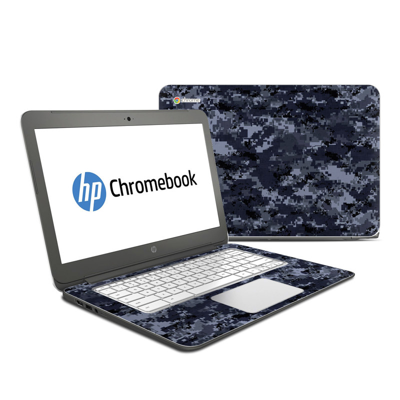 Digital Navy Camo HP Chromebook 14 Skin