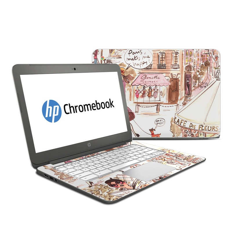 Paris Makes Me Happy HP Chromebook 14 Skin