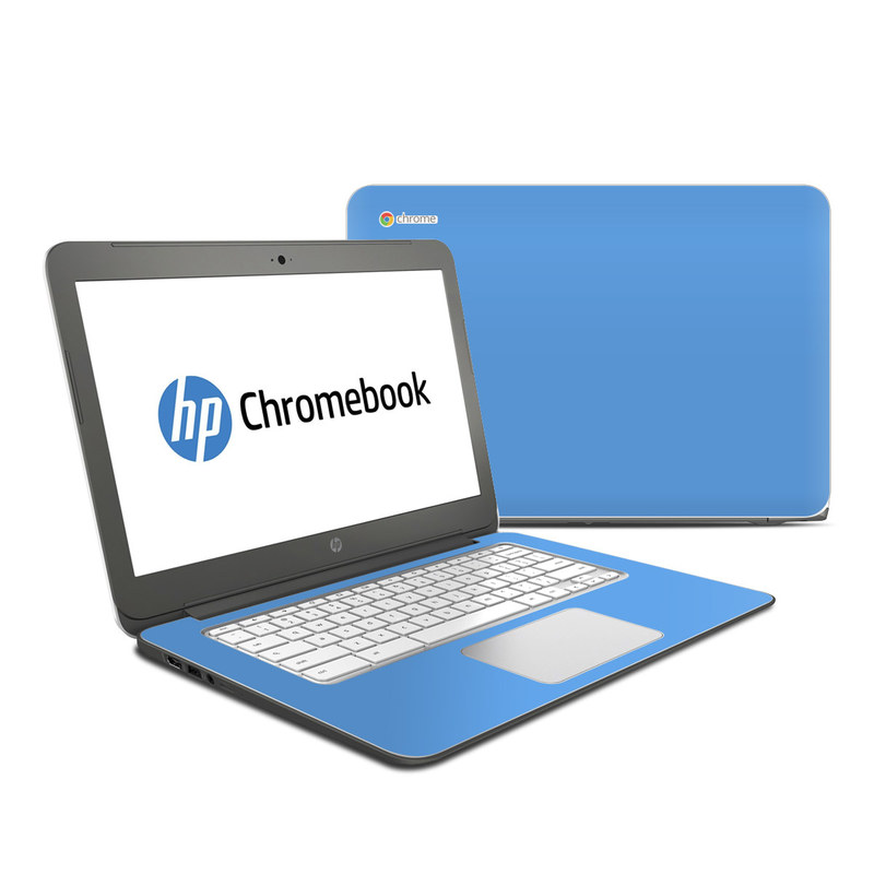 HP Chromebook 14 Skin design of Sky, Blue, Daytime, Aqua, Cobalt blue, Atmosphere, Azure, Turquoise, Electric blue, Calm with blue colors