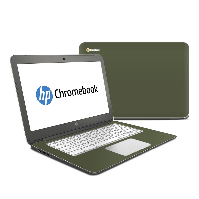 Solid State Olive Drab HP Chromebook 14 Skin