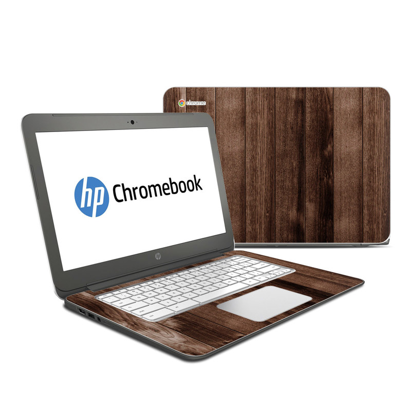 Stained Wood HP Chromebook 14 Skin