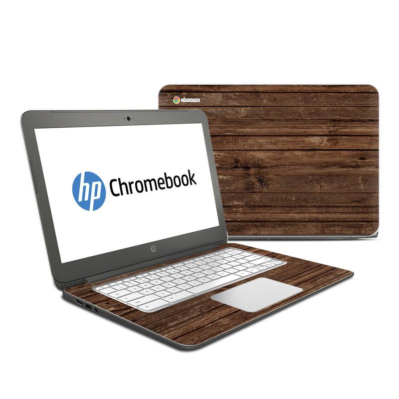Stripped Wood HP Chromebook 14 Skin