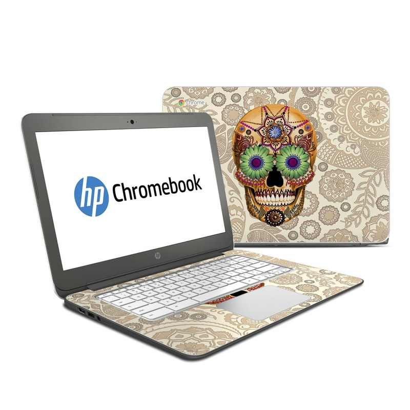 Sugar Skull Bone HP Chromebook 14 Skin