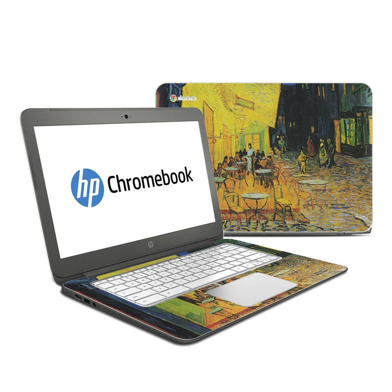 Cafe Terrace At Night HP Chromebook 14 Skin