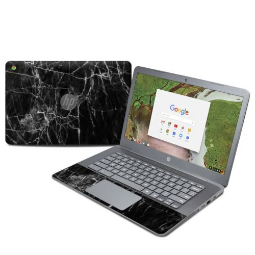 Black Marble HP Chromebook 14 G5 Skin