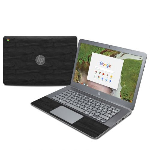 Black Woodgrain HP Chromebook 14 G5 Skin