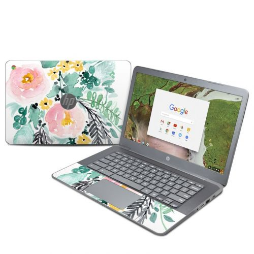 Blushed Flowers HP Chromebook 14 G5 Skin