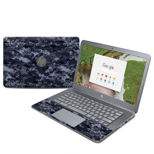 Digital Navy Camo HP Chromebook 14 G5 Skin