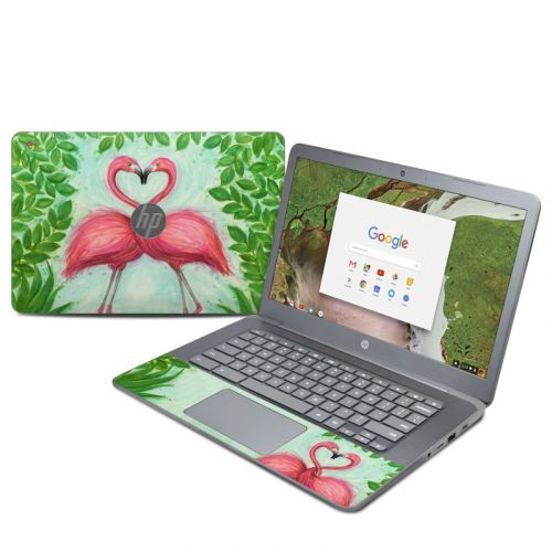 Flamingo Love HP Chromebook 14 G5 Skin
