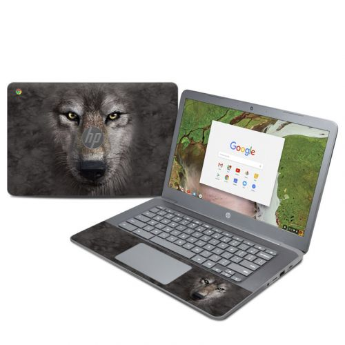Grey Wolf HP Chromebook 14 G5 Skin