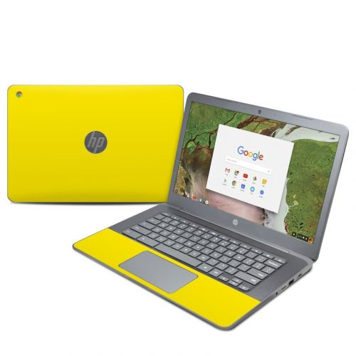 Solid State Yellow HP Chromebook 14 G5 Skin