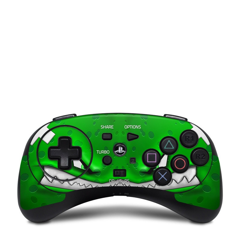 HORI Fighting Commander Skin design of Green, Font, Animation, Logo, Graphics, Games with green, white colors