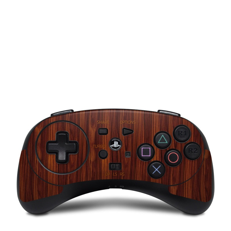 HORI Fighting Commander Skin design of Wood, Red, Brown, Hardwood, Wood flooring, Wood stain, Caramel color, Laminate flooring, Flooring, Varnish with black, red colors