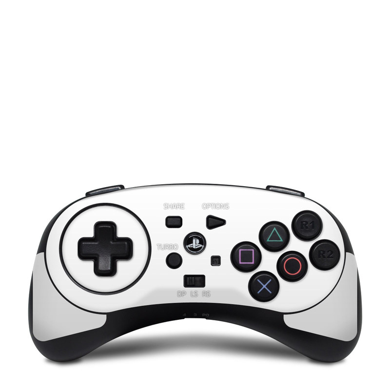 HORI Fighting Commander Skin design of White, Black, Line with white colors