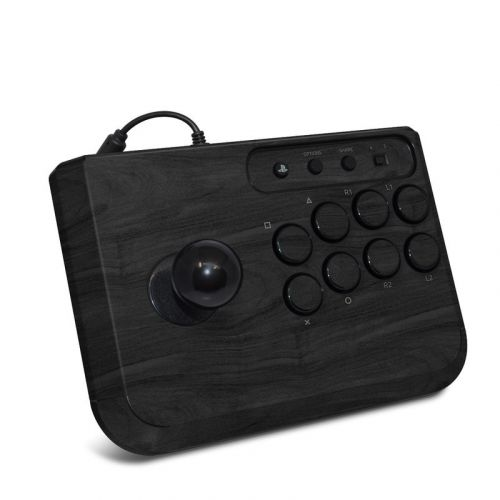Black Woodgrain HORI Fighting Stick Mini 4 Skin