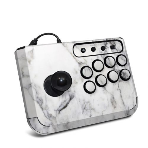 White Marble HORI Fighting Stick Mini 4 Skin