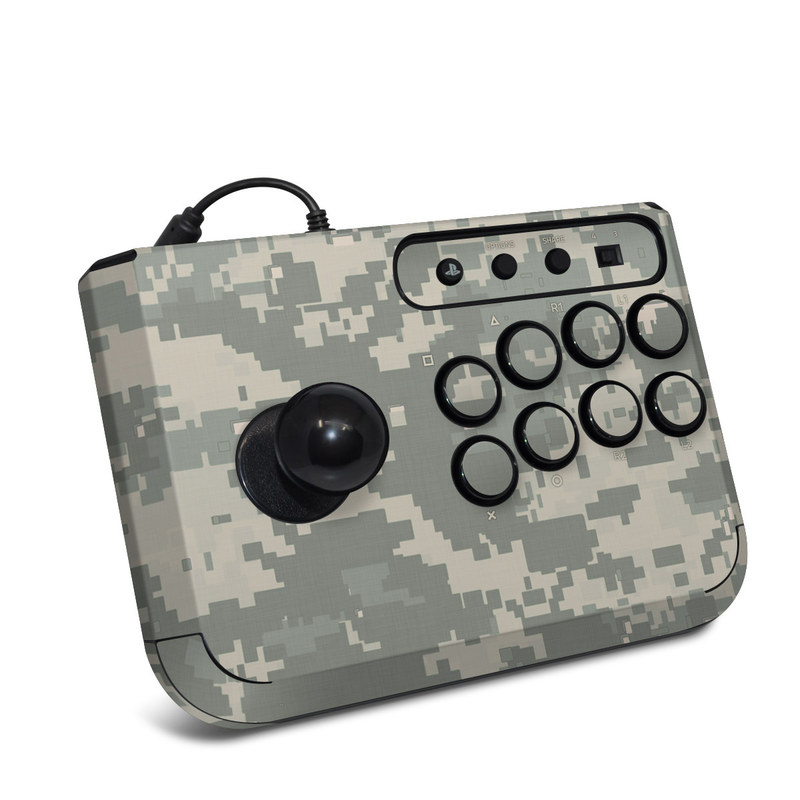 HORI Fighting Stick Mini 4 Skin design of Military camouflage, Green, Pattern, Uniform, Camouflage, Design, Wallpaper with gray, green colors