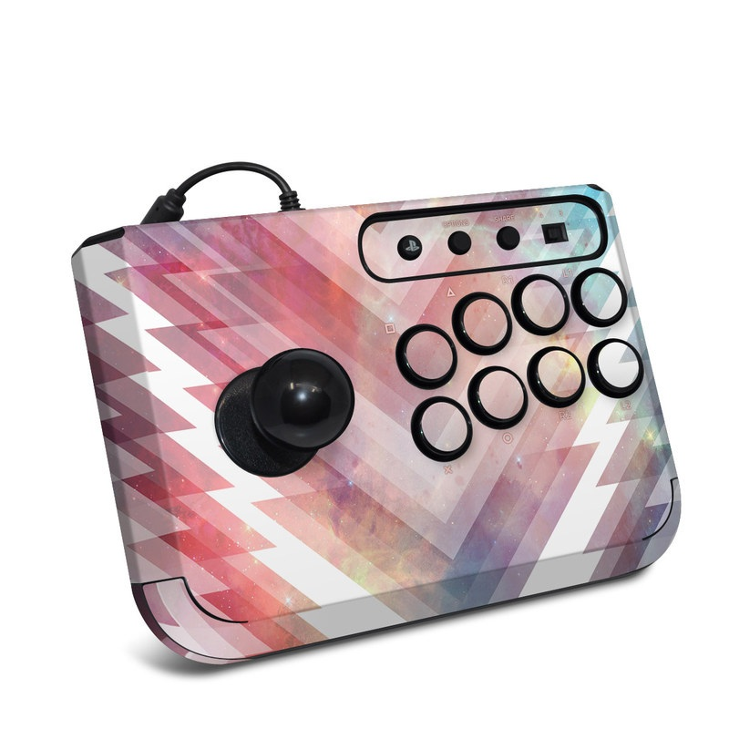 HORI Fighting Stick Mini 4 Skin design of Light, Line, Purple, Pink, Sky, Design, Pattern, Graphic design, Graphics, Tints and shades with white, red, blue, orange, yellow colors
