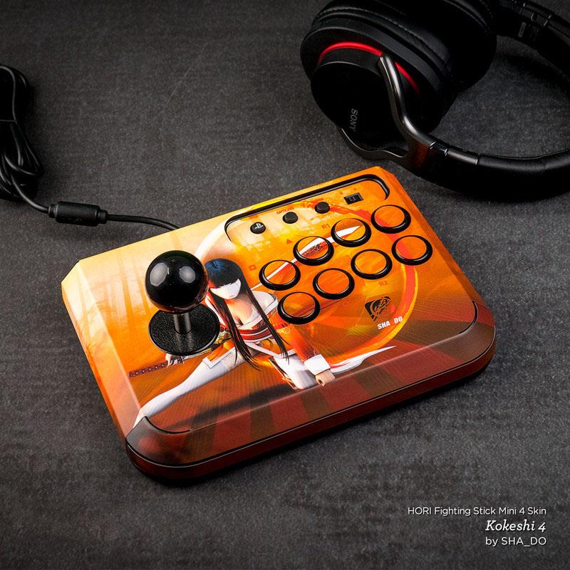 Solid State Orange HORI Fighting Stick Mini 4 Skin