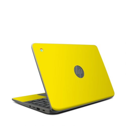 Solid State Yellow HP Chromebook 11 G7 Skin