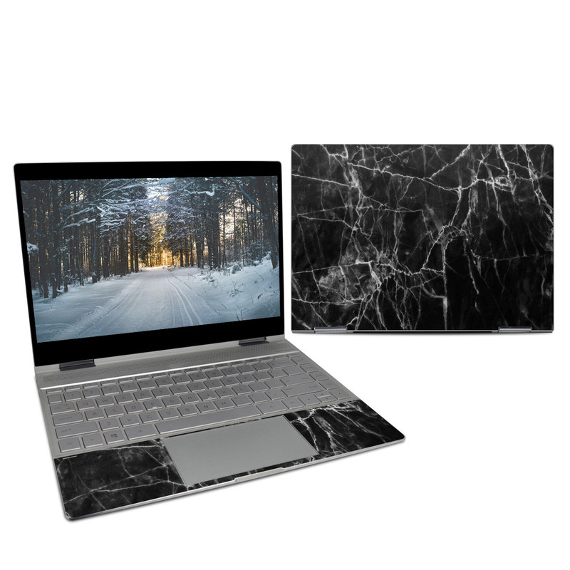 HP Spectre x360 13-inch Skin design of Black, White, Nature, Black-and-white, Monochrome photography, Branch, Atmosphere, Atmospheric phenomenon, Tree, Sky with black, white colors