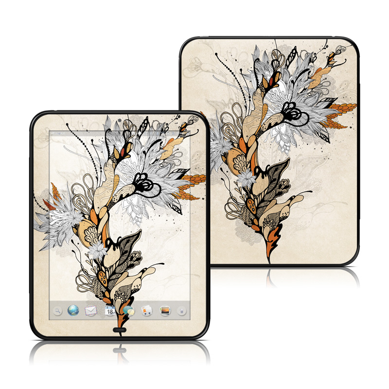 Sweet Floral HP TouchPad Skin