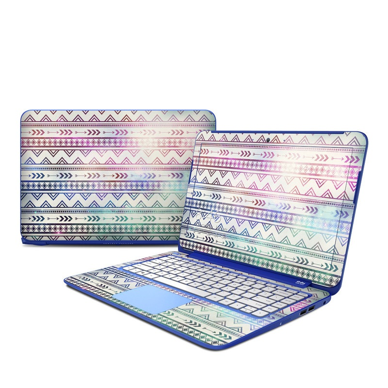 HP Stream 13 Skin design of Pattern, Line, Teal, Design, Textile with gray, pink, yellow, blue, black, purple colors