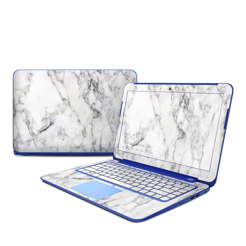 HP Stream 13 Skin design of White, Geological phenomenon, Marble, Black-and-white, Freezing with white, black, gray colors