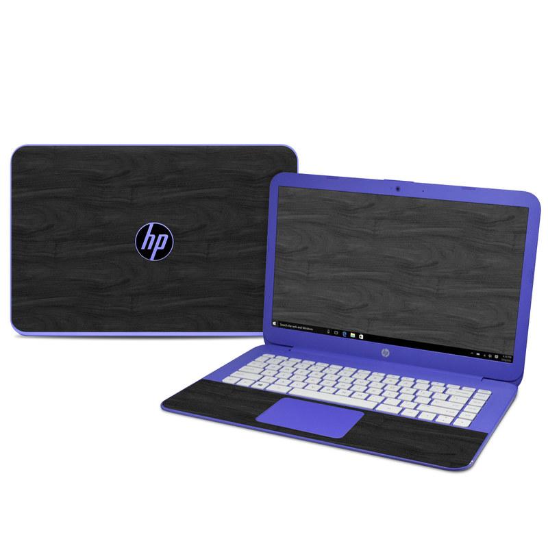 HP Stream 14 Skin design of Black, Brown, Wood, Grey, Flooring, Floor, Laminate flooring, Wood flooring with black colors