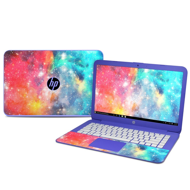 HP Stream 14 Skin design of Nebula, Sky, Astronomical object, Outer space, Atmosphere, Universe, Space, Galaxy, Celestial event, Star with white, black, red, orange, yellow, blue colors