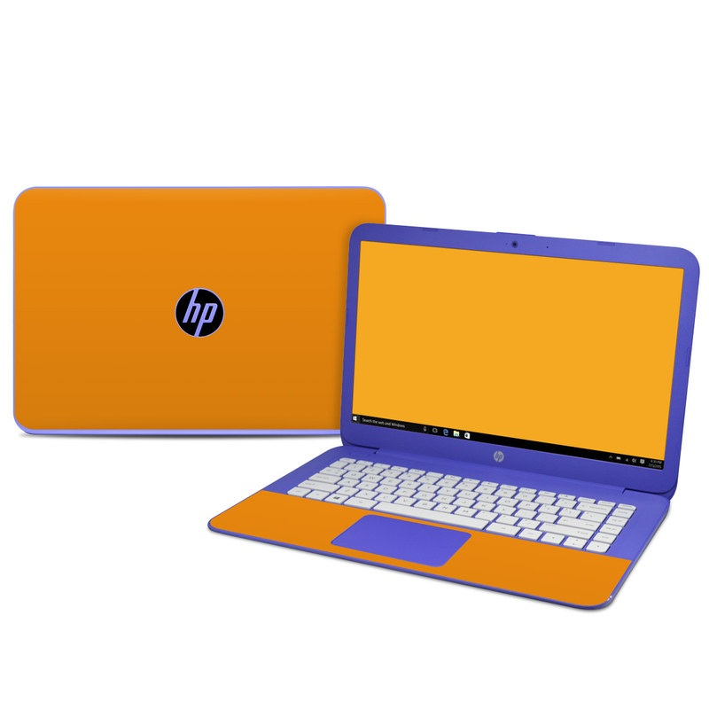 HP Stream 14 Skin design of Orange, Yellow, Brown, Text, Amber, Font, Peach with orange colors