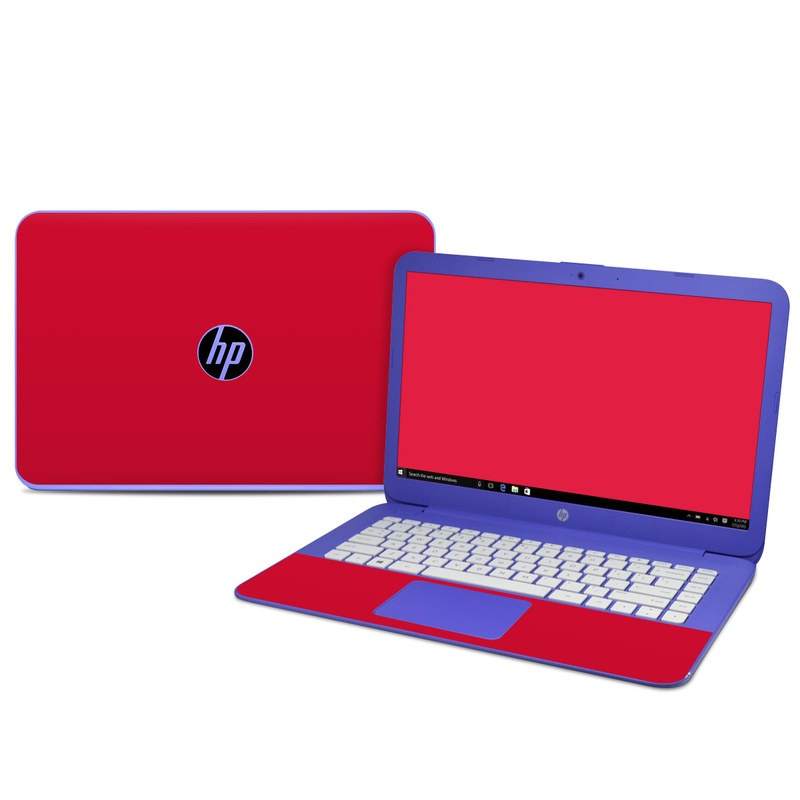 HP Stream 14 Skin design of Red, Pink, Maroon, Purple, Orange, Violet, Magenta, Material property, Font, Peach with red colors