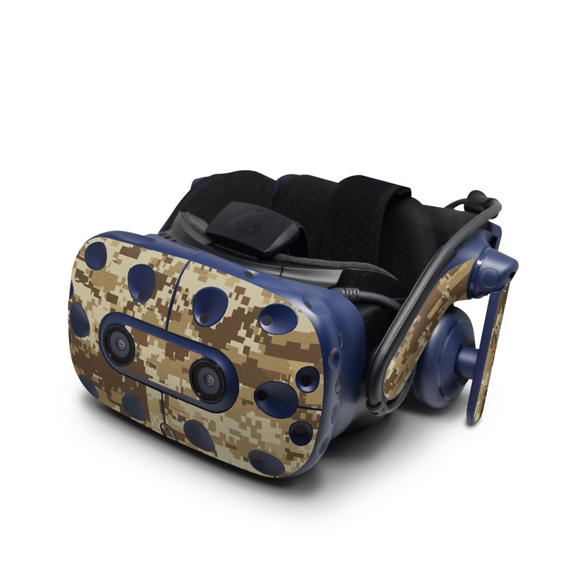 HTC VIVE Pro Skin design of Military camouflage, Brown, Pattern, Camouflage, Wall, Beige, Design, Textile, Uniform, Flooring with brown colors