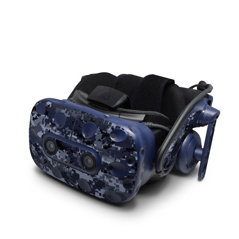 HTC VIVE Pro Skin design of Military camouflage, Black, Pattern, Blue, Camouflage, Design, Uniform, Textile, Black-and-white, Space with black, gray, blue colors