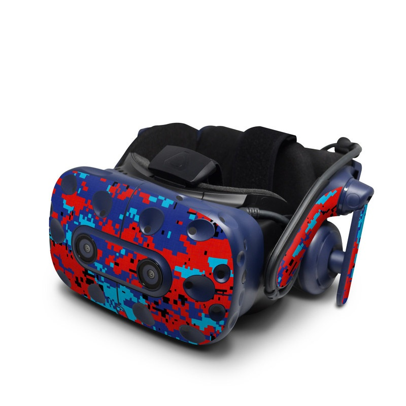 HTC VIVE Pro Skin design of Blue, Red, Pattern, Textile, Electric blue with blue, red colors