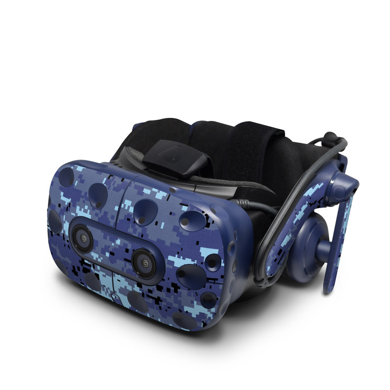 HTC VIVE Pro Skin design of Blue, Purple, Pattern, Lavender, Violet, Design with blue, gray, black colors