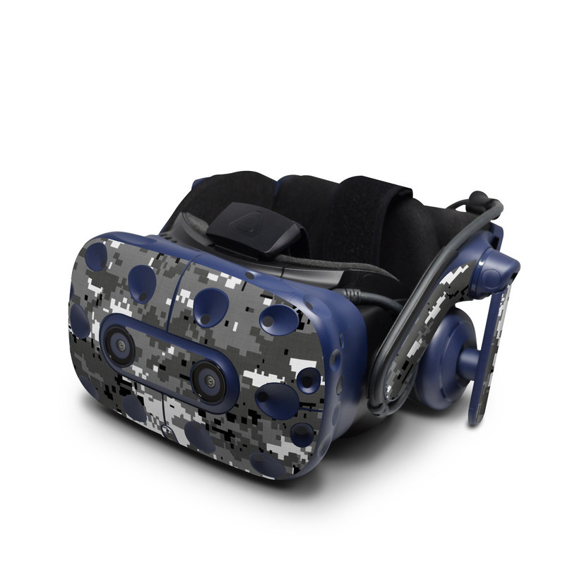 HTC VIVE Pro Skin design of Military camouflage, Pattern, Camouflage, Design, Uniform, Metal, Black-and-white with black, gray colors