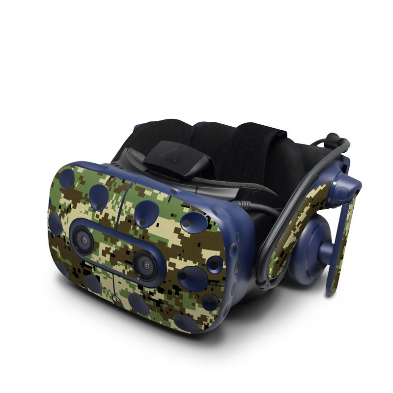 HTC VIVE Pro Skin design of Military camouflage, Pattern, Camouflage, Green, Uniform, Clothing, Design, Military uniform with black, gray, green colors