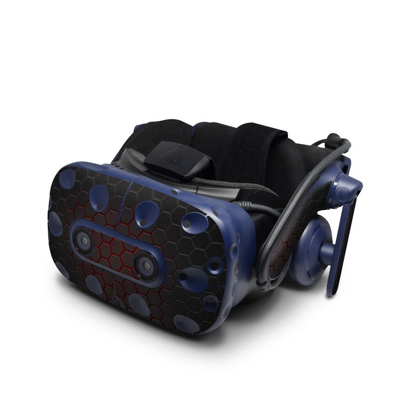 HTC VIVE Pro Skin design with black, gray, red colors