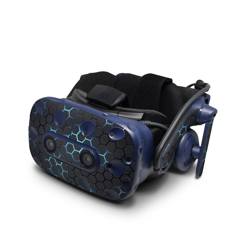 HTC VIVE Pro Skin design with black, gray, blue colors