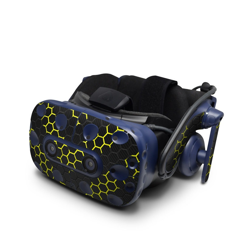 HTC VIVE Pro Skin design with black, gray, yellow colors