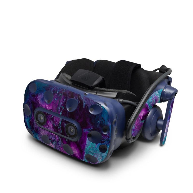 HTC VIVE Pro Skin design of Blue, Purple, Violet, Water, Turquoise, Aqua, Pink, Magenta, Teal, Electric blue with blue, purple, black colors