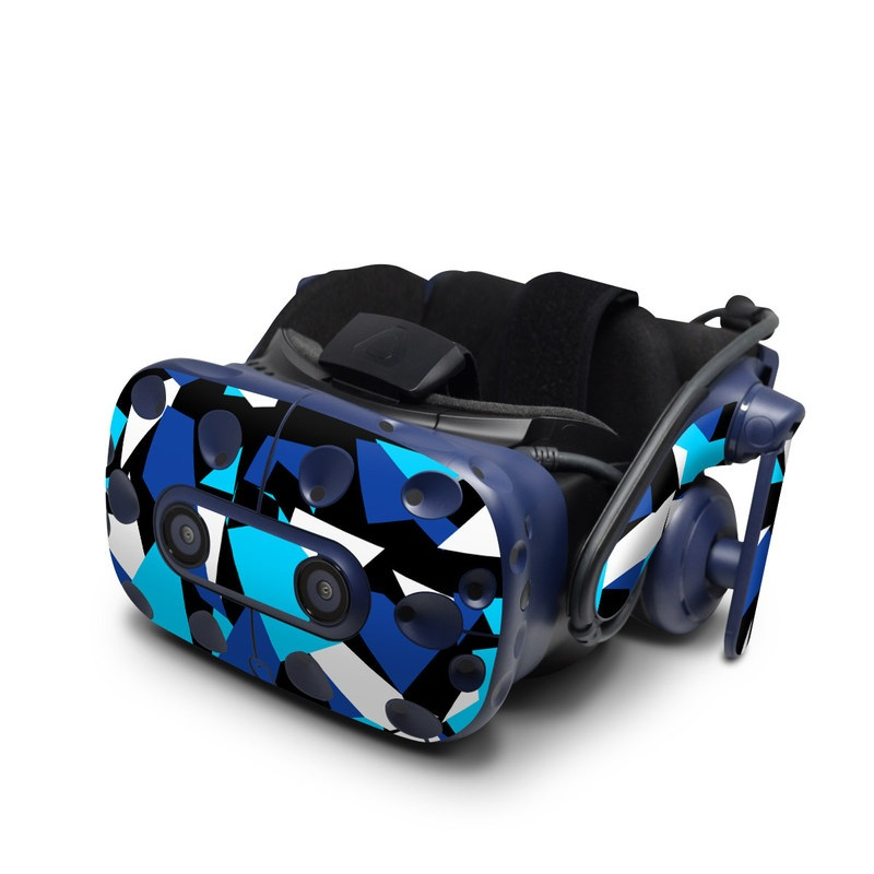 HTC VIVE Pro Skin design with blue, white, black colors