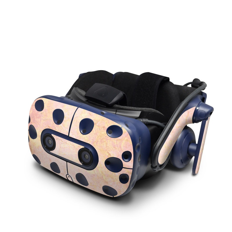 HTC VIVE Pro Skin design of Pink, Peach, Wallpaper, Pattern with pink, yellow, orange colors