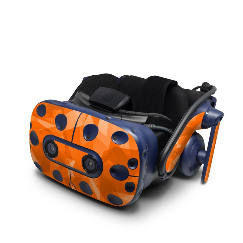HTC VIVE Pro Skin design with orange colors